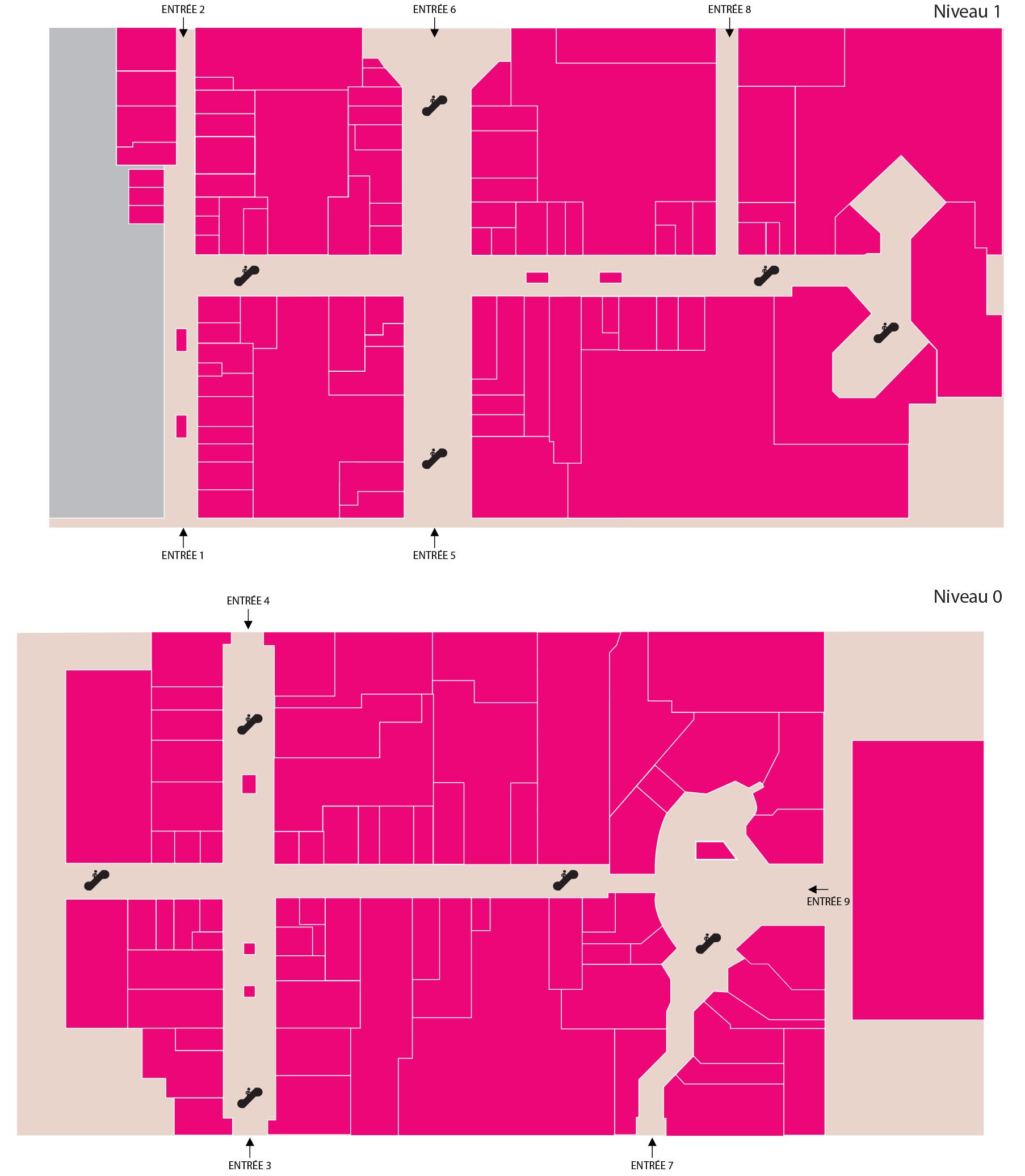 Plan du centre – Centre commercial Cité Europe